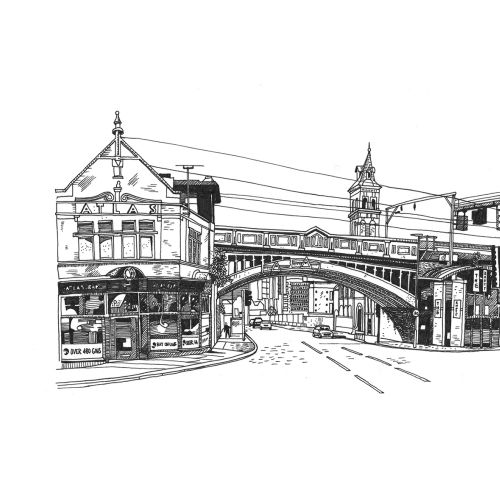 Matt Hollings In Black & White Architecture Illustrator
