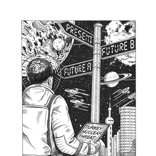 Matt Hollings In Black & White Line Illustrator