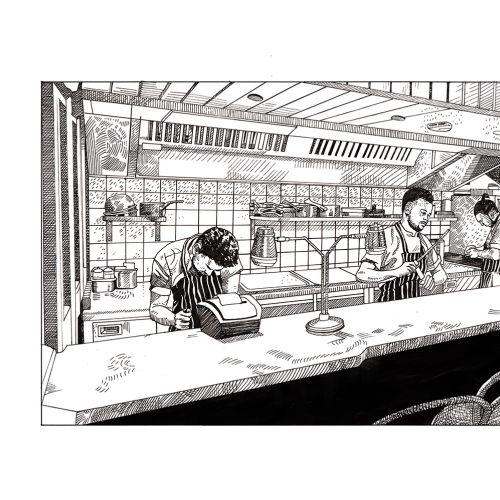 Matt Hollings In Black & White Black & White Illustrator from United Kingdom
