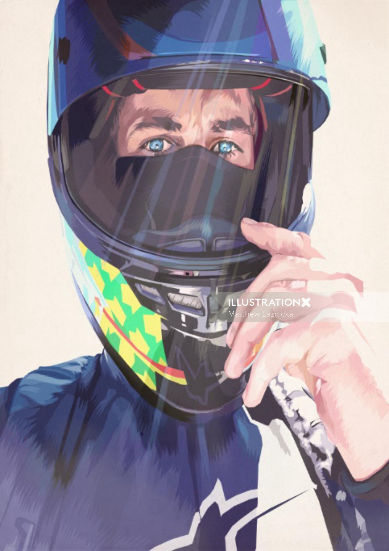 Bike racer graphic design