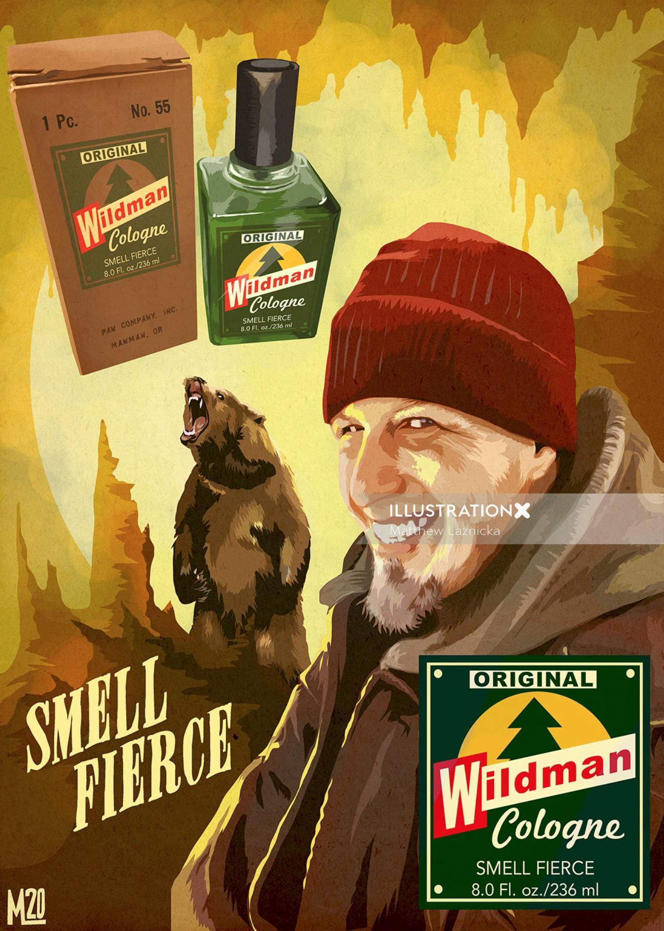 Wildman Cologne Advertising