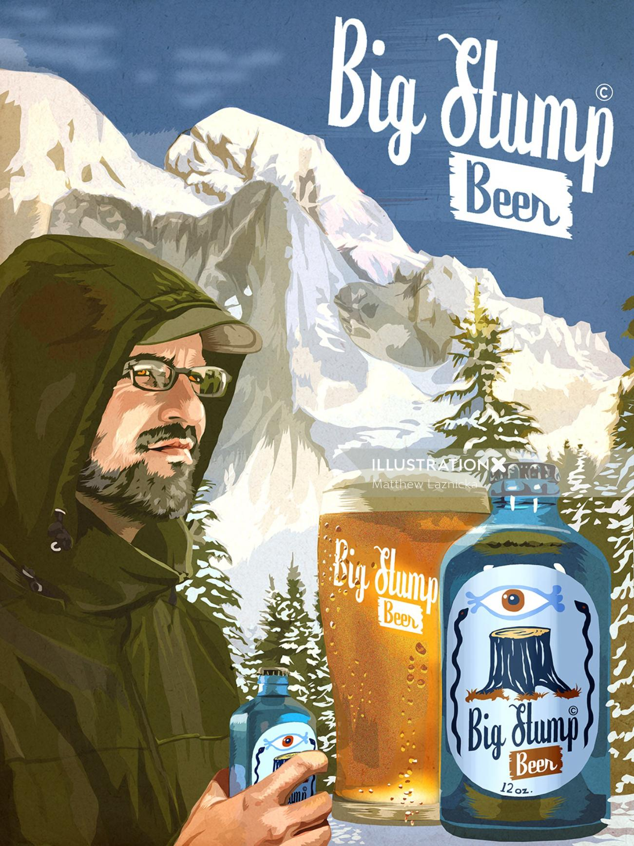Big Stump Beer Campaign