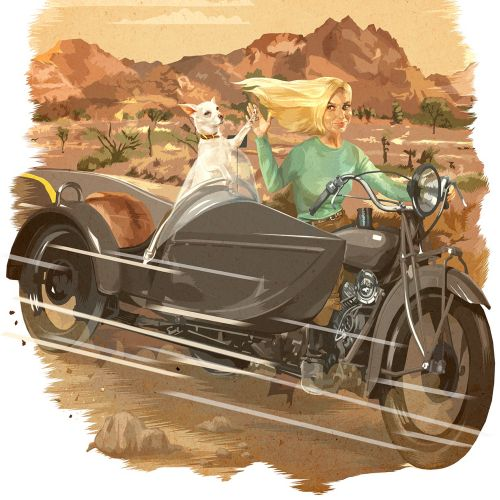 Matthew Laznicka International retro illustrator. USA