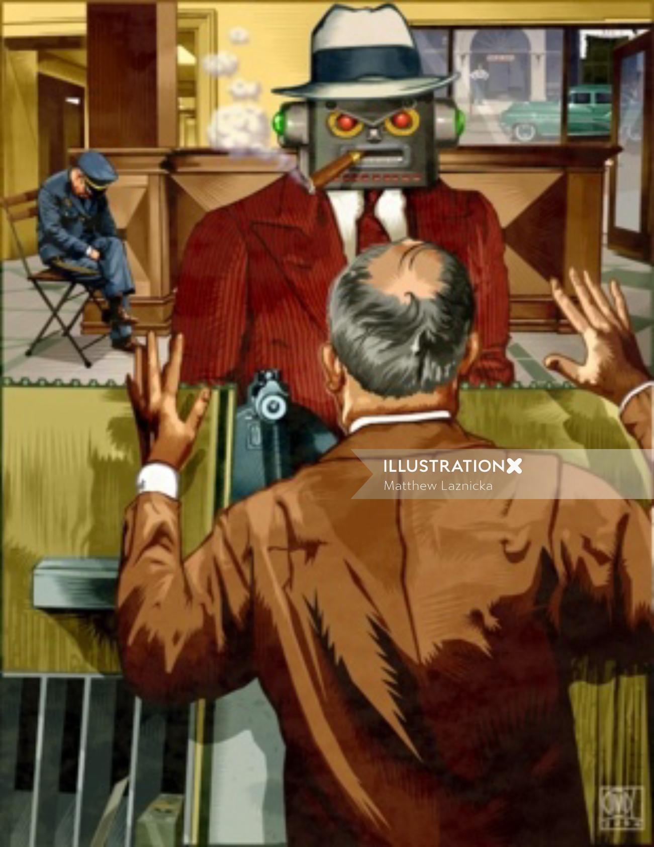 Bank Heist Robot