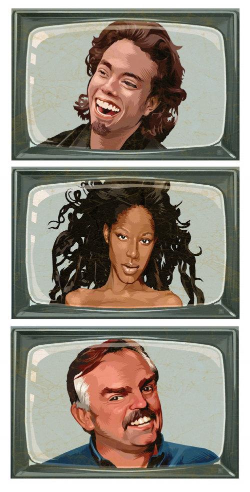 Portrait de plusieurs visages