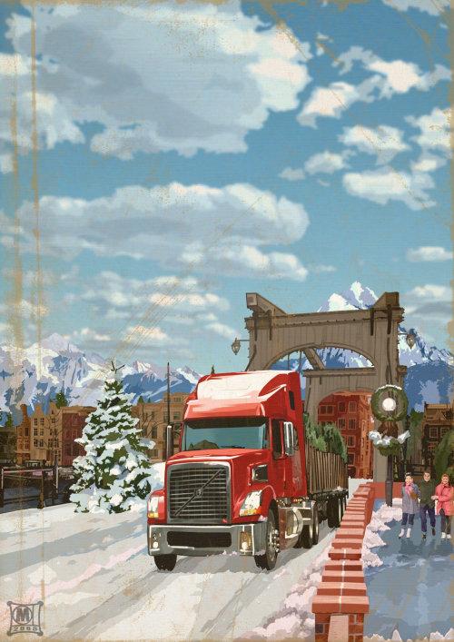 Illustration du camion Volvo