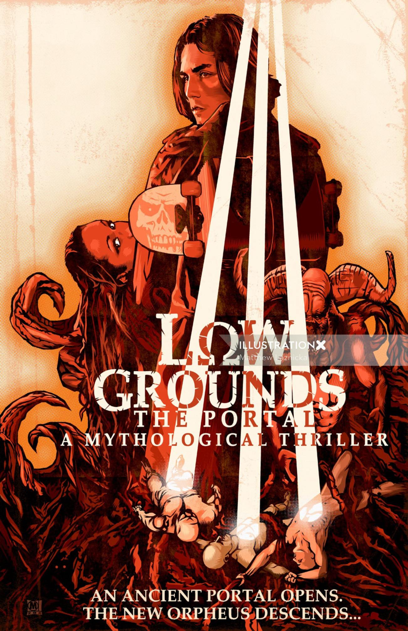 Illustration of Lowgrounds film poster