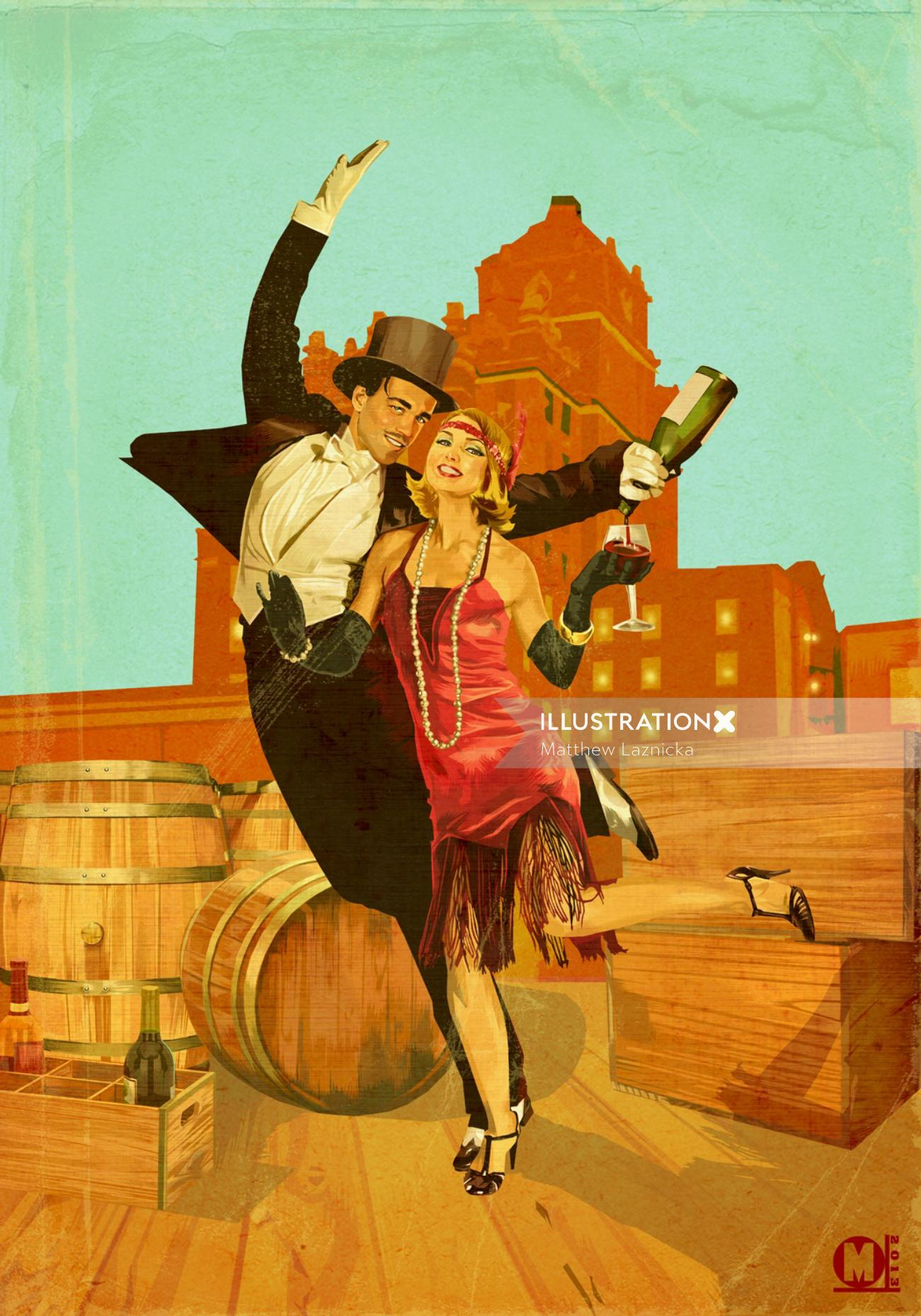 Illustration for Speakeasy poster