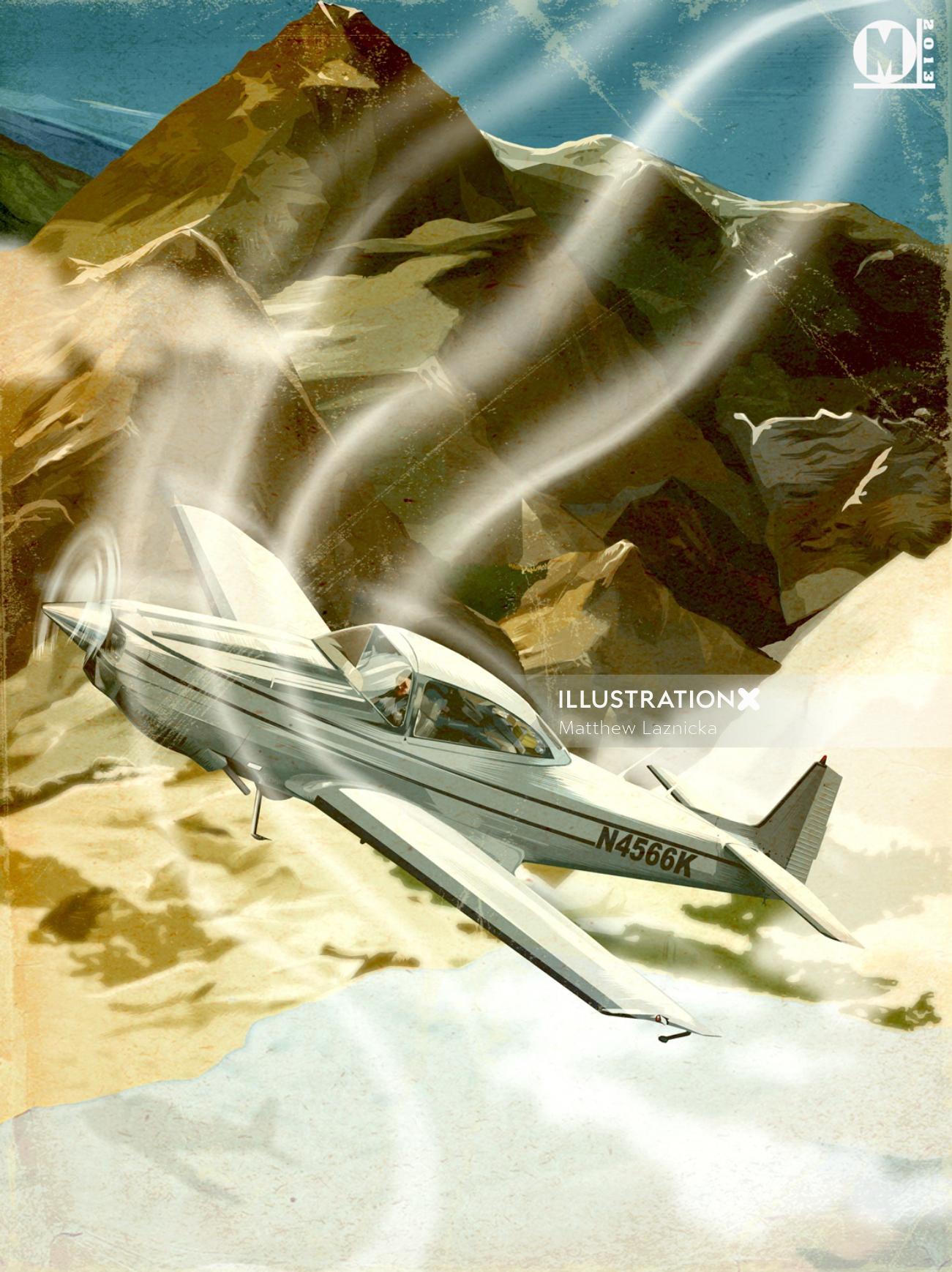 Illustration of navion plane