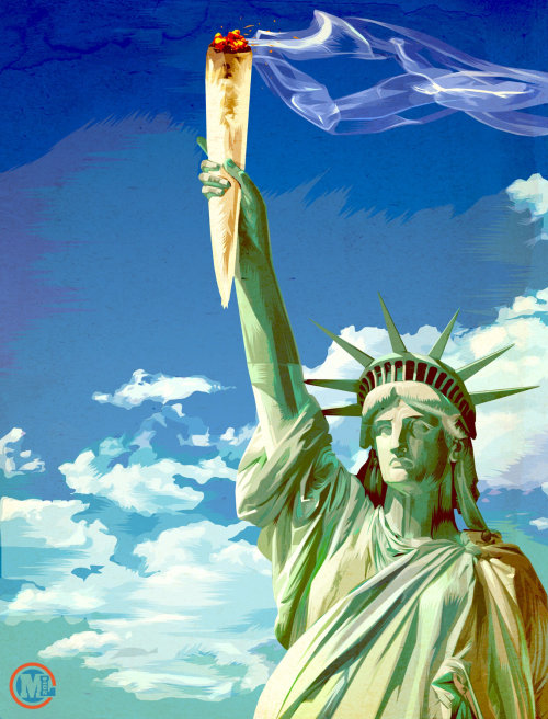 Illustration of statue of liberty
