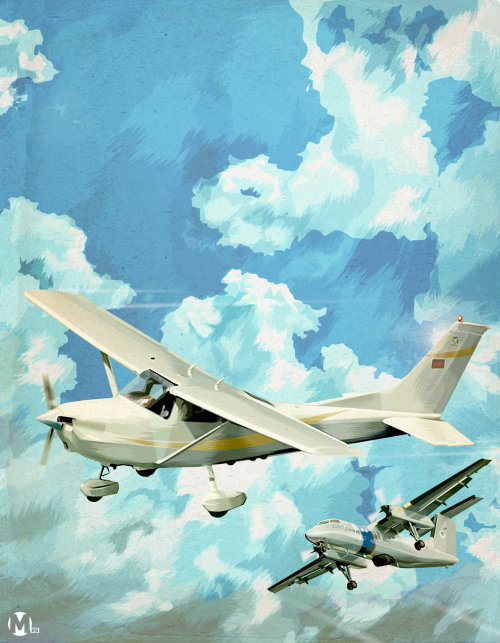 Illustration of glider planes