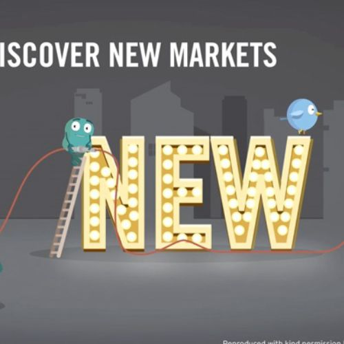 Discover new market technology animation