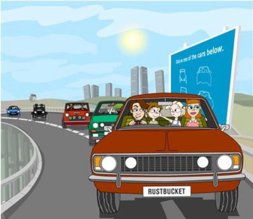 Transport graphic illustration