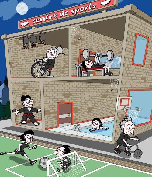 sports center illustration