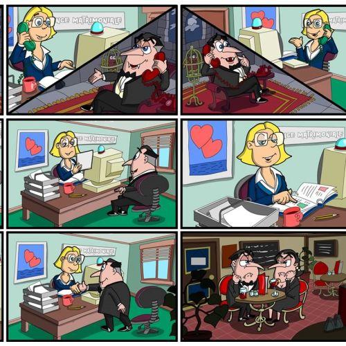 infographics of office scene