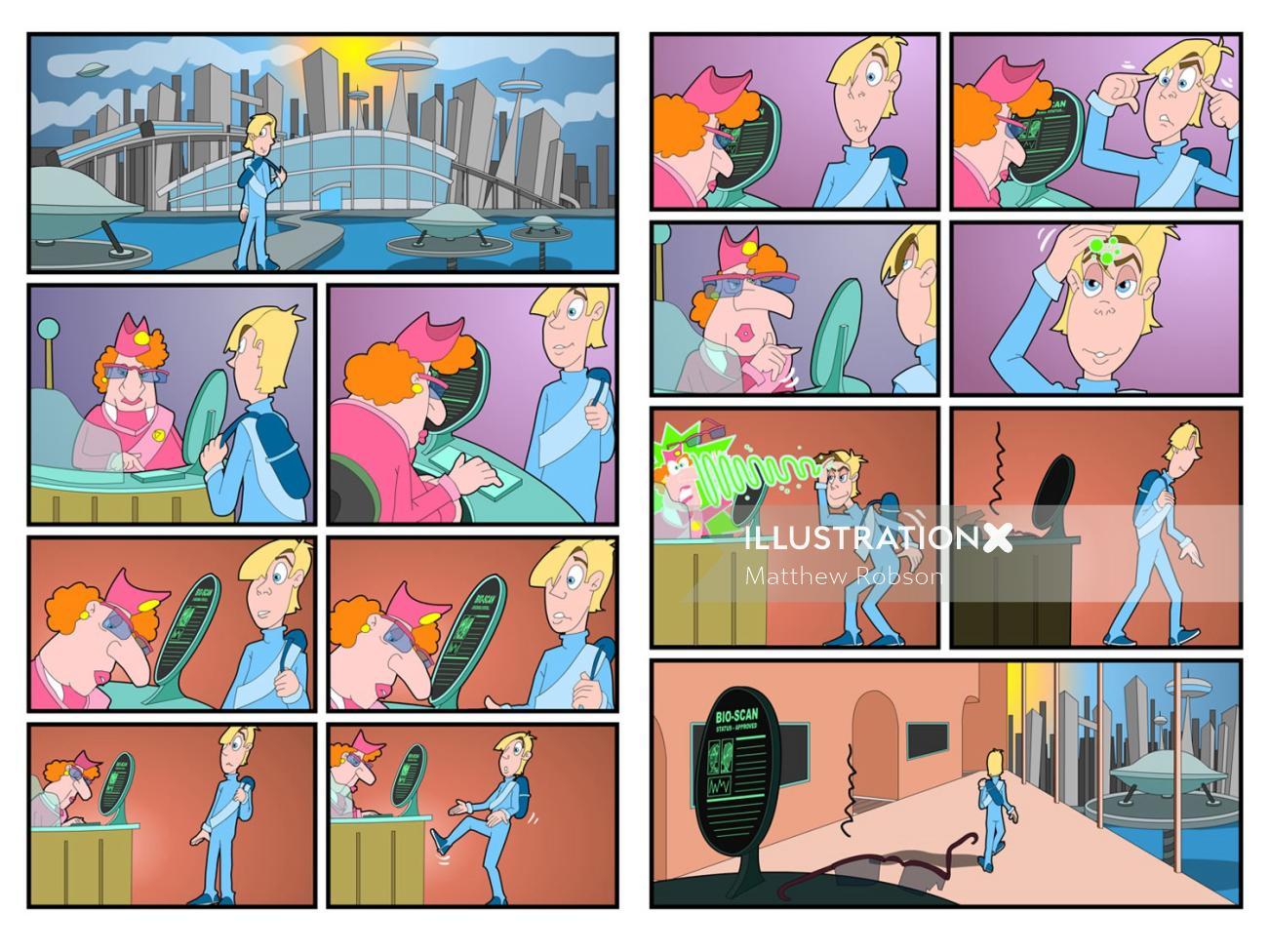 Educational comic Strip
