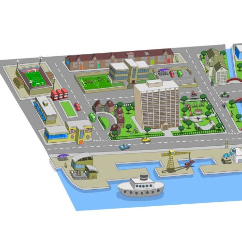 Map from Dockside educational project