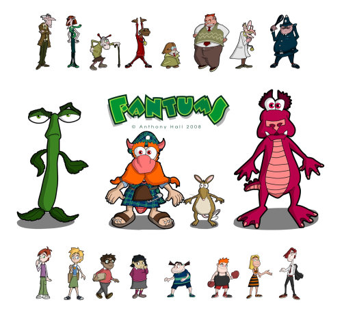 Fantums Character designs