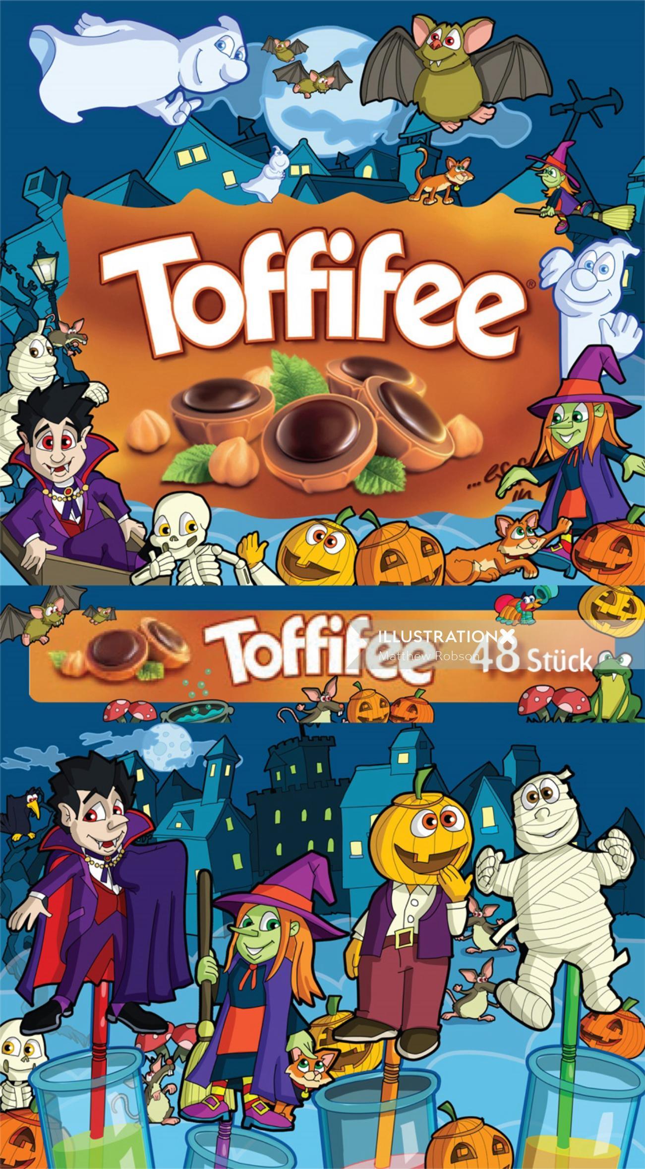 Halloween Toffifee Packaging