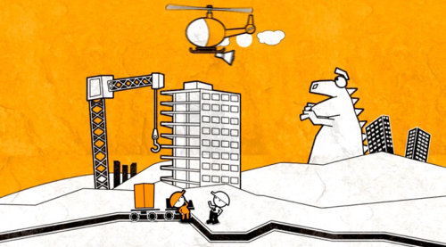 Construction site graphic design