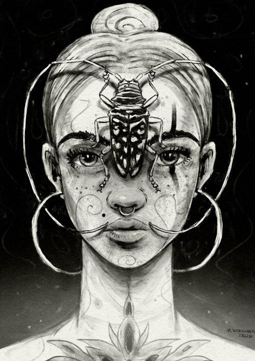 女人的美丽,脸上的bug