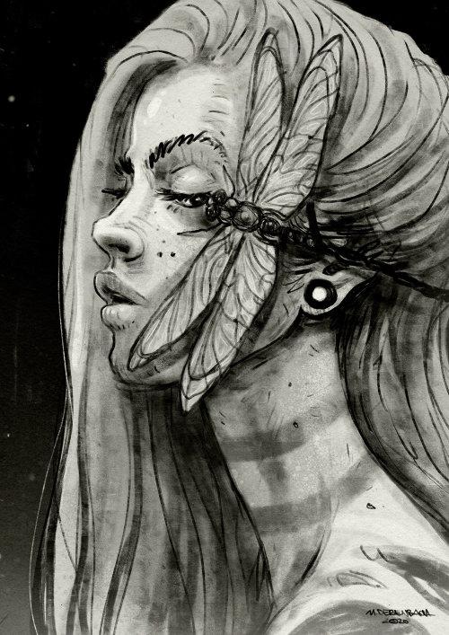 人物设计龙飞在女人脸上