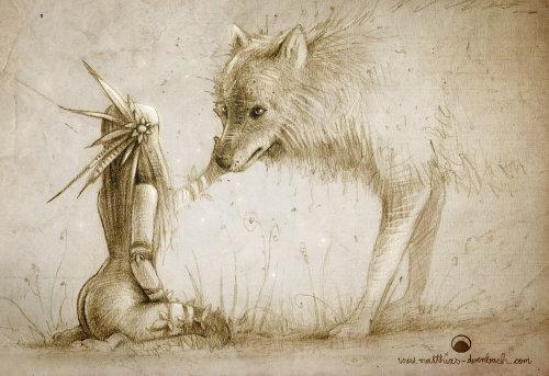 狐狸的女孩的角色设计