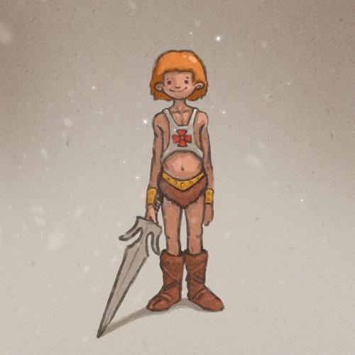 角色设计战士用剑