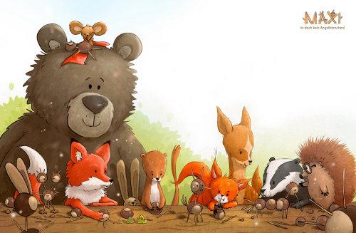 孩子们坐在一起的动物书
