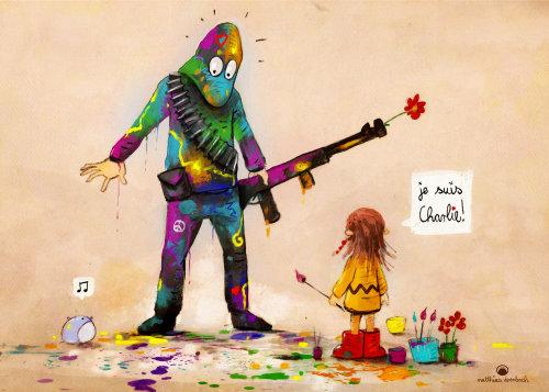 卡通与幽默士兵拿着枪