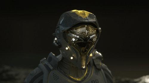 3d character alien face
