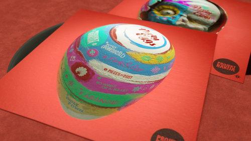 3d colorful party eggs