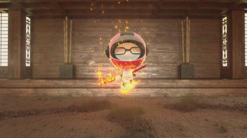 3d design boy on fire