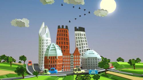 Architecture beautiful city scape