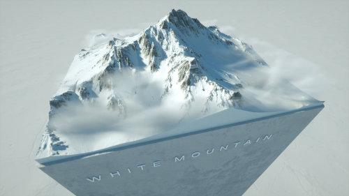 3d white mountain