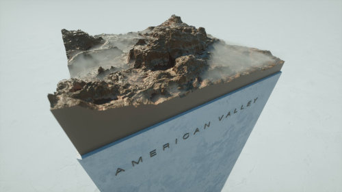 3d American valley