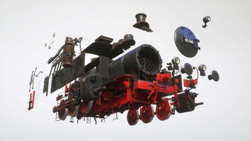 3d train engine demonstration