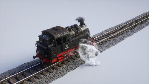 3d train engine