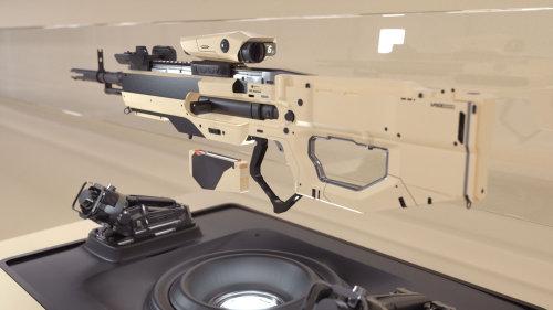 3d side view gun
