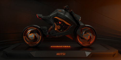 3d model black bike