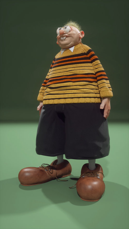 3d character with clothes