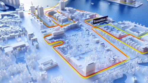 3d marking of city map