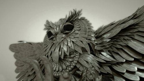 3d owl face