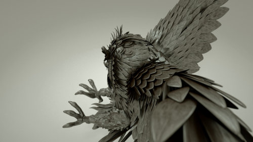 3d attacking eagle