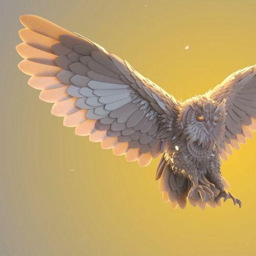 3d flying eagle
