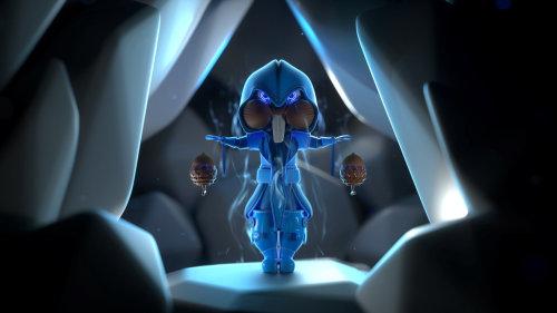 3d blue character design