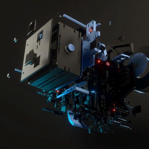 3d machine design parts