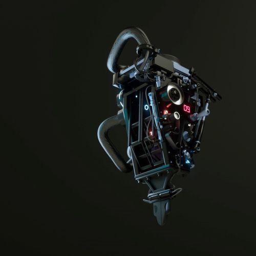3d illustration of a machine