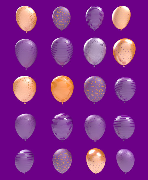 3d balloon shapes