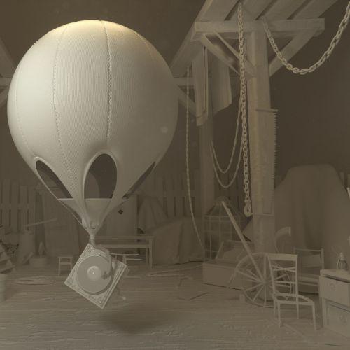 3d air balloon